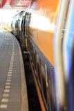 Plataforma del tren Fotos de archivo