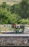 Plataforma del tren imagenes de archivo