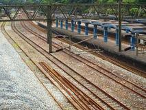Plataforma del tren Imagen de archivo libre de regalías