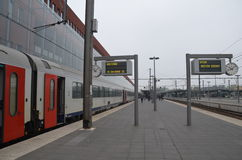 Plataforma del tren Foto de archivo libre de regalías