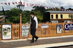 Plataforma del tren del vintage Imágenes de archivo libres de regalías