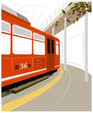 Plataforma do estação de caminhos-de-ferro Imagens de Stock
