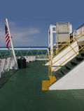 Plataforma do ferryboat Imagens de Stock Royalty Free
