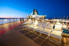 Plataforma do navio de cruzeiros Imagens de Stock Royalty Free