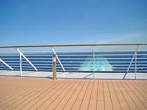 Plataforma do navio de cruzeiros Fotografia de Stock