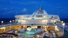 Plataforma do navio de cruzeiros Fotografia de Stock Royalty Free