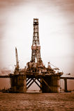 Plataforma do petróleo no louro de Guanabara Imagens de Stock