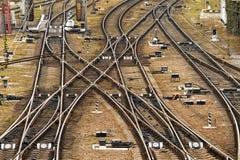Plataforma do trem da carga, estradas de ferro ucranianas imagem de stock royalty free