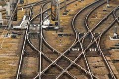 Plataforma do trem da carga, estradas de ferro ucranianas imagens de stock royalty free