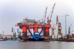 Plataforma em uma barca Fotos de Stock Royalty Free