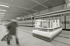Plataforma en blanco de cerámica de la transmisión automática Imágenes de archivo libres de regalías