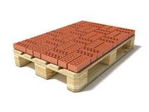 Plataforma euro con una fila de ladrillos de cerámica Imagen de archivo