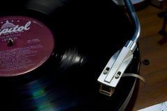 Plataforma giratória com fim do álbum acima fotos de stock