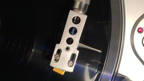 Plataforma giratória do vinil video estoque