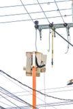 Plataforma hidráulica del rescate Fotografía de archivo