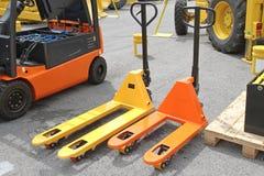 Plataforma Jack Forklift foto de archivo libre de regalías
