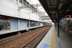 Plataforma na estação de Kaohsiung, Taiwan Imagens de Stock