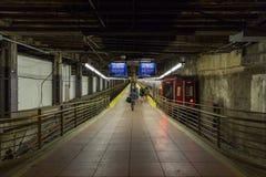Plataforma na estação no terminal de Grand Central em New York foto de stock royalty free