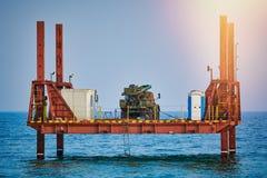Plataforma no mar Fotografia de Stock Royalty Free