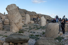 A plataforma ocidental em Mt Nemrut em Turquia no final da tarde Imagens de Stock Royalty Free