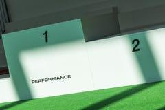 Plataforma para los ganadores: Primera y segunda posición Fotografía de archivo