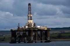 Plataforma petrolífera fotografia de stock