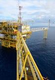 A plataforma petrolífera. Imagem de Stock