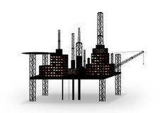 Plataforma petrolífera ilustração royalty free