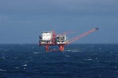 Plataforma petrolífera do golfo Foto de Stock Royalty Free