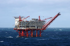 Plataforma petrolífera do golfo Imagens de Stock Royalty Free