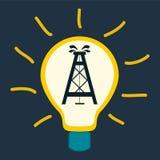 Plataforma petrolífera em uma ampola Fotografia de Stock Royalty Free