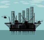 Plataforma petrolífera grande Fotos de Stock Royalty Free