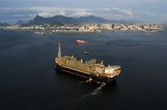 Plataforma petrolífera P67 fotografia de stock