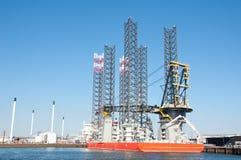 Plataforma petrolífera Platfrom Fotos de Stock