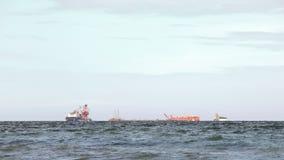 Plataforma petrolífera sob a construção Foto de Stock Royalty Free