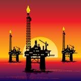 Plataforma petrolera Imagen de archivo