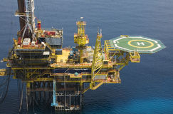 Plataforma petrolera Fotografía de archivo libre de regalías