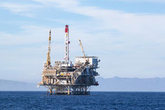 Plataforma petrolera Imagen de archivo libre de regalías