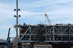 Plataforma petrolera del sector de la construcción Foto de archivo