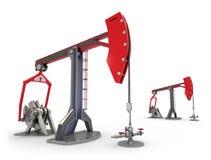 Plataforma petrolera: Gatos de la bomba aislados en blanco ilustración del vector
