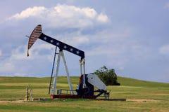 Plataforma petrolera patriótica Imagen de archivo libre de regalías
