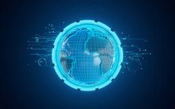 Plataforma tecnológica 3d Imagen de archivo