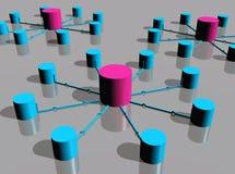 Plataformas da rede ilustração stock