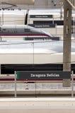 Trenes de alta velocidad. Foto de archivo