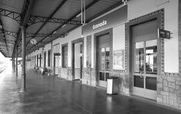 Plataformas del ferrocarril Imágenes de archivo libres de regalías