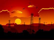 Plataformas petrolíferas ilustração stock