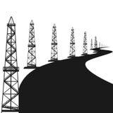 Plataformas petrolíferas Imagens de Stock Royalty Free