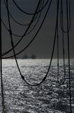Plataformas petroleras en Mar del Norte Imagen de archivo libre de regalías