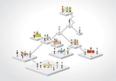 Plataforms with business people working Royalty Free Stock Photography