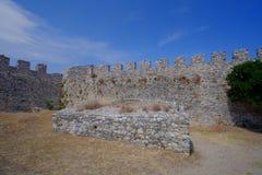 Platamon城堡在希腊 免版税库存图片